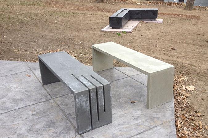 Gfrc concrete bench
