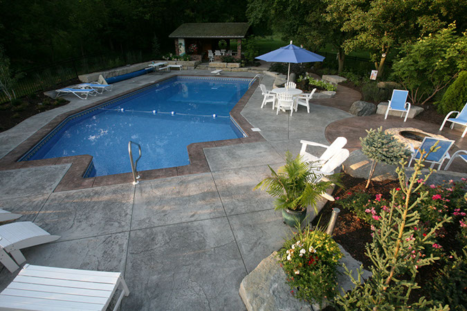 Modern concrete omaha for Pool design omaha